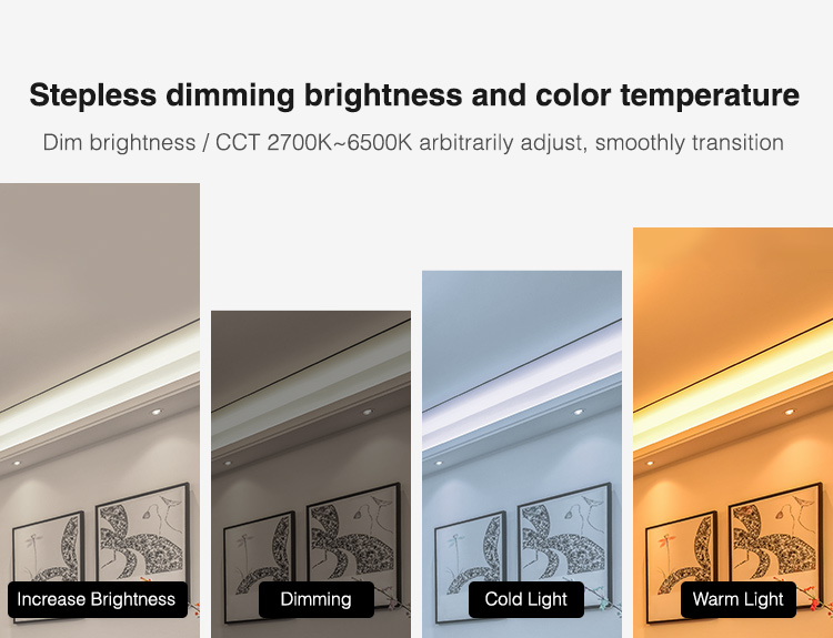 easy control of brightness saturation and colour for LED tapes