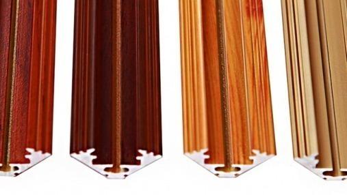 ALU-LED corner aluminium LED profiles P3 wenge