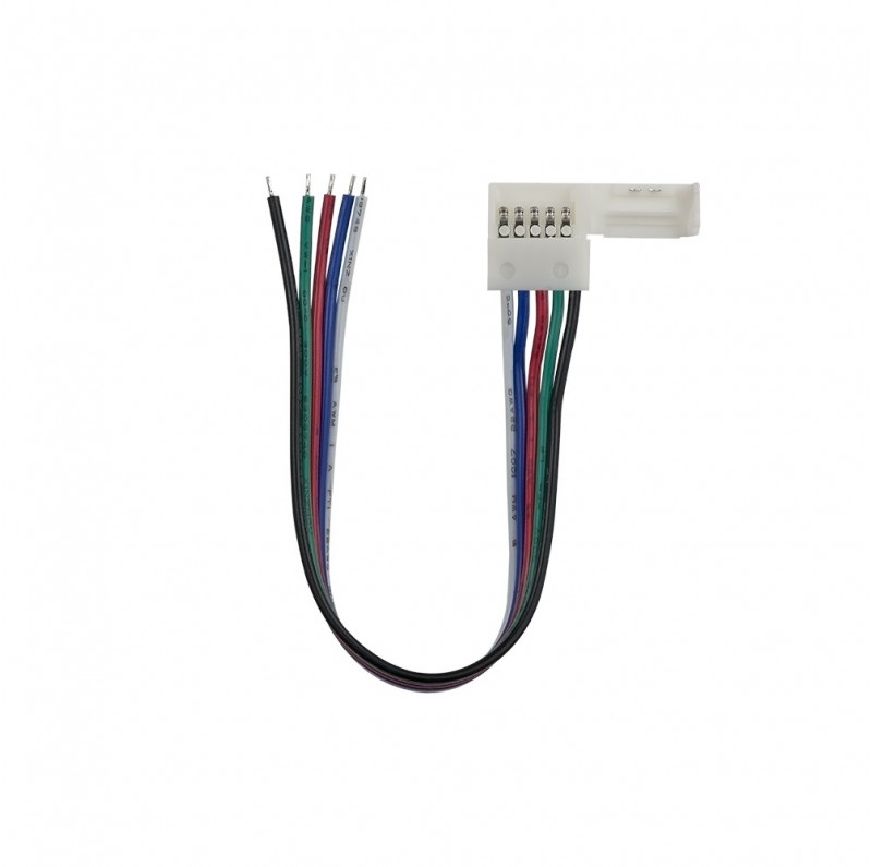 12mm RGBW 5 pin wire connector