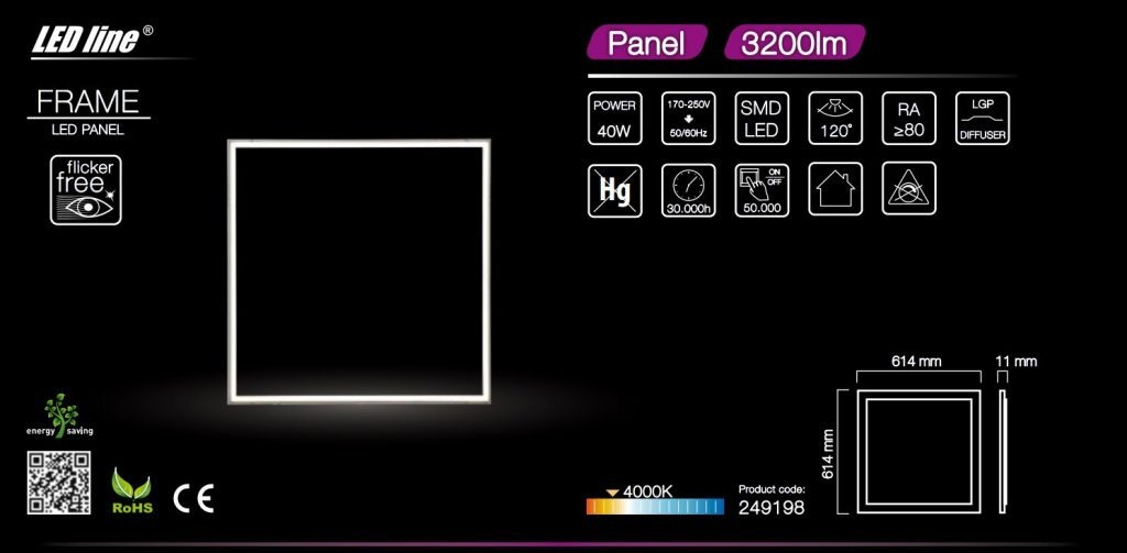 High CRI RA 80 LGP diffuser 120 degree 40W power flicker free