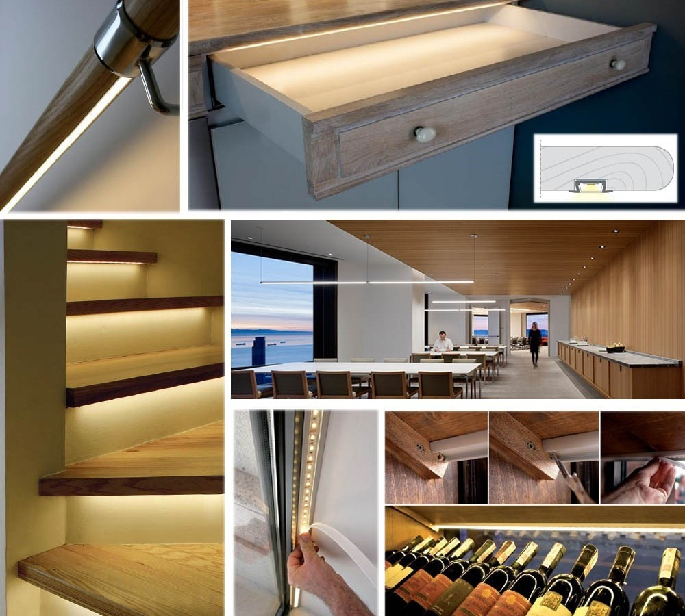 Wide application of aluminium LED extrusion LED channels LED profiles office shop home