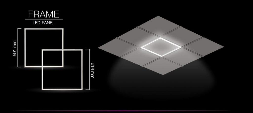 LED light panel frame suspended ceiling white square