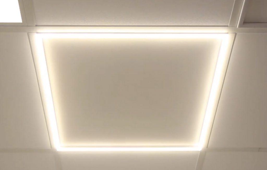 LED line frame panel installed warm white 3000K ceiling light