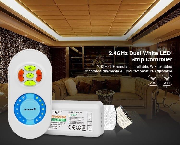 Mi-Light 2.4GHz dual white LED strip controller FUT022 LED strip controlling kit startup set