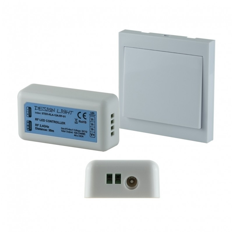DESIGN LIGHT push button wall switch LED RF dimmer