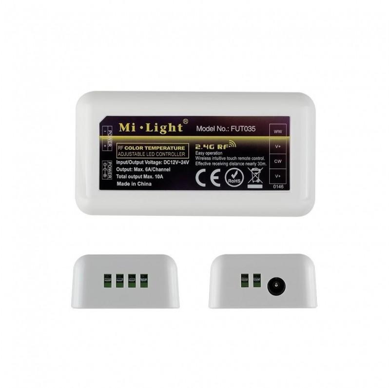 Mi-Light 4-zone colour temperature dual white LED strip controller FUT035