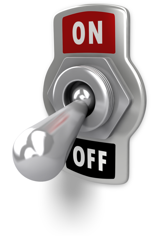 switch OFF the power for your safety
