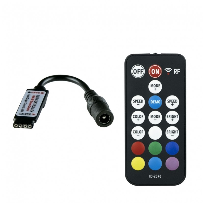RGB 18 key RF mini remote controller ID-2070