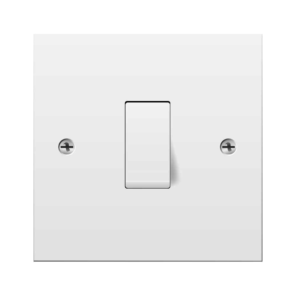 standard single pole light switch one gang white