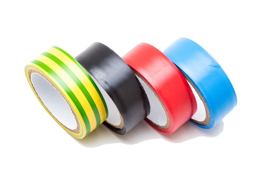 Electrical tape colour coded for the electrical insulation