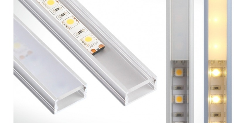surface mounted aluminium LED profiles with LED strips 5050 SMD chips