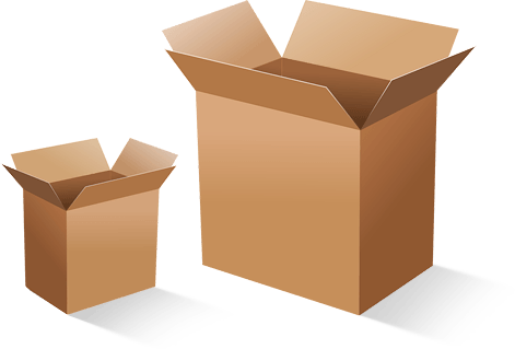 Shipping cardboard boxes small and large sizes Parcel Force myHermes Royal Mail Fragile