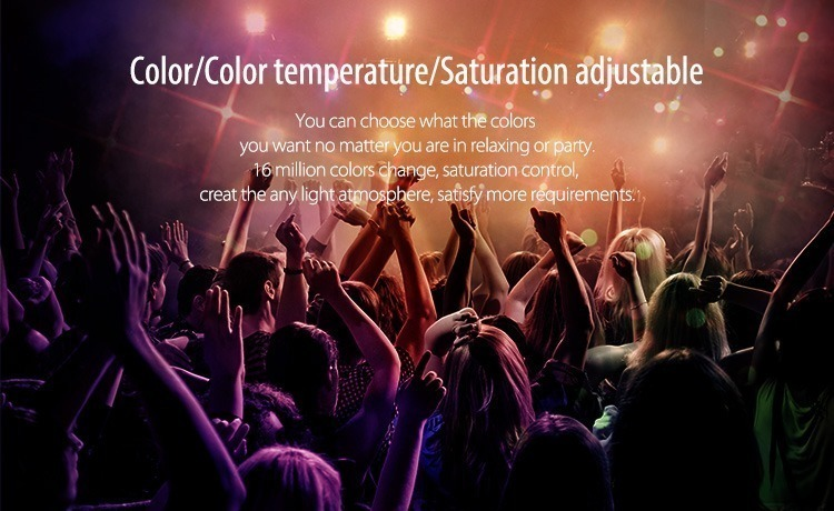 colour adjustable colour temperature adjustable saturation adjustable croud of people in the club dancing milight remote