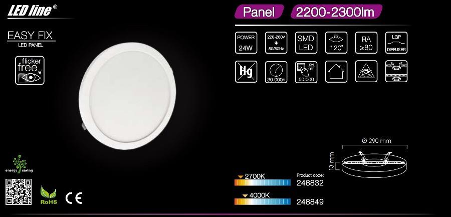 LED line ® EasyFix 24W 2300lm downlight warm white