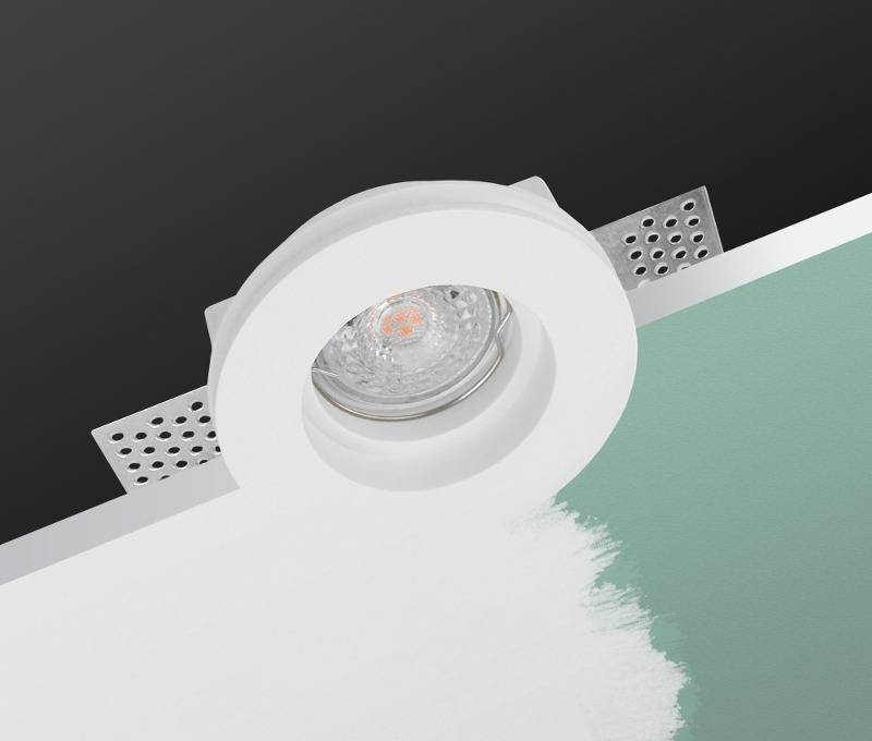 LED line® GU10 plasterboard recessed ceiling downlight ORION white