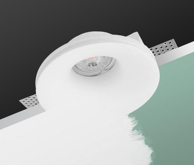 LED line® GU10 plasterboard recessed ceiling downlight VELA white application