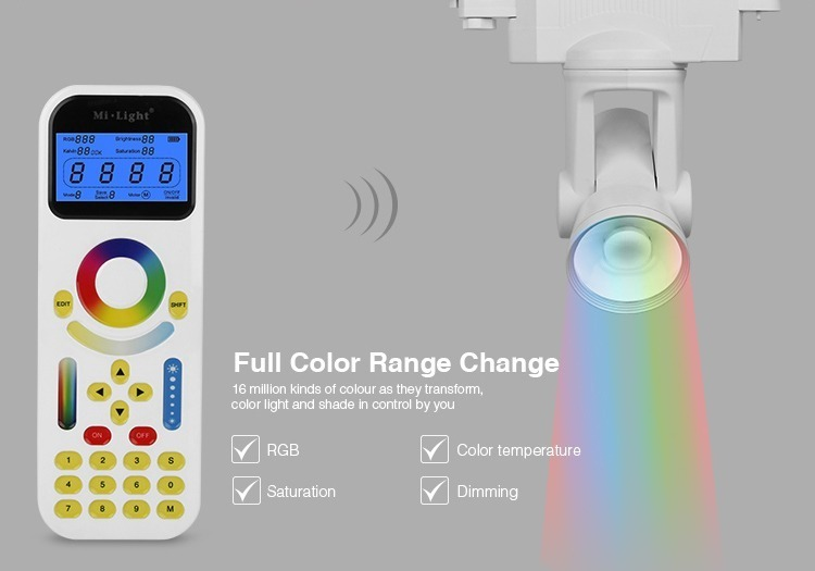full colour range RGB dimming track light