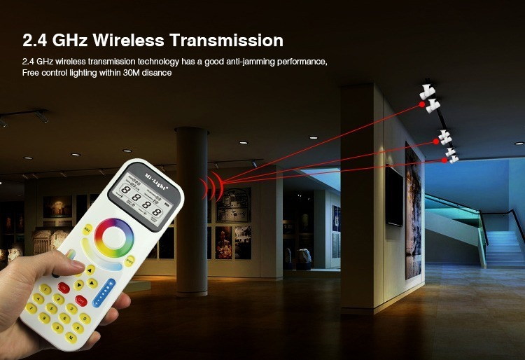2.4GHz wireless transmission 99 zone remote controller milight
