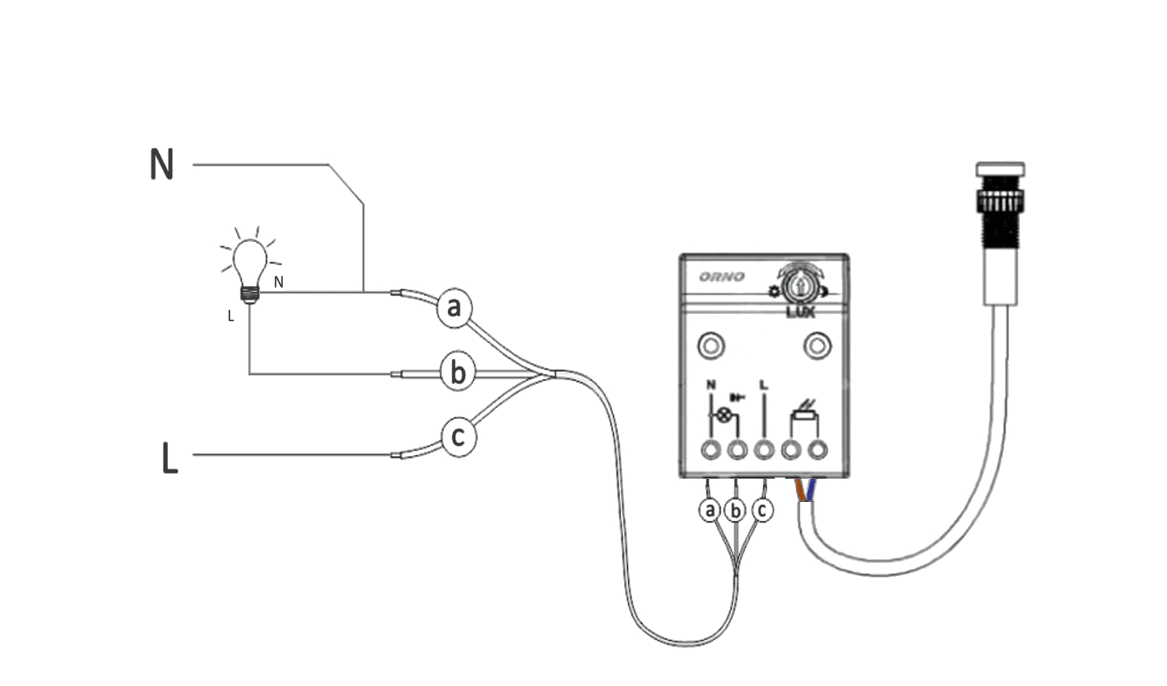 How to wire up OR-CR-233 diagram how to connect dusk till dawn sensor ORNO
