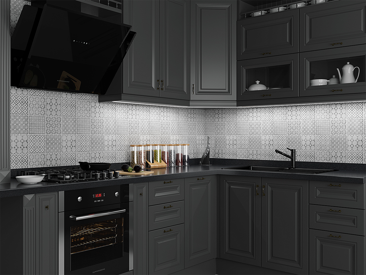light up your kitchen with our aluminium profiles and LED strips