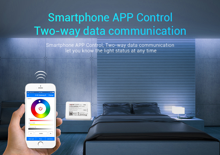 Mi-Light 2.4GHz gateway WL-Box1 smartphone app control two-way data communication