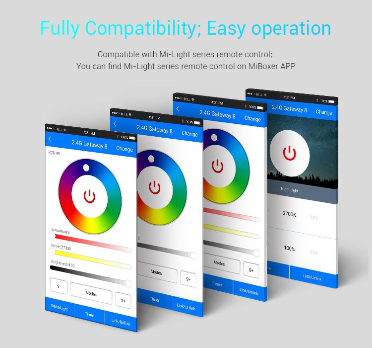 Mi-Light 2.4GHz gateway WL-Box1 full compatibility easy operation