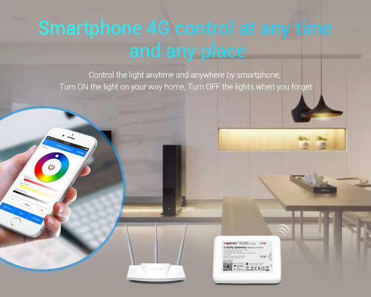 Mi-Light 2.4GHz gateway WL-Box1 smartphone 4G control at any time and any place