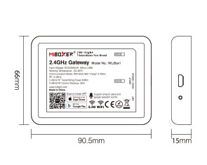 Mi-Light 2.4GHz gateway WL-Box1 size of the device