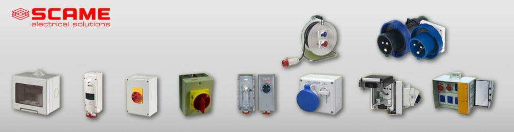 scame electrical solutions banner product range