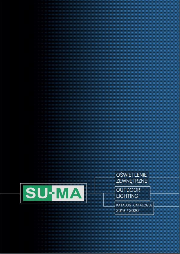 SU-MA outdoor lighting product catalogue cover 2019 2020