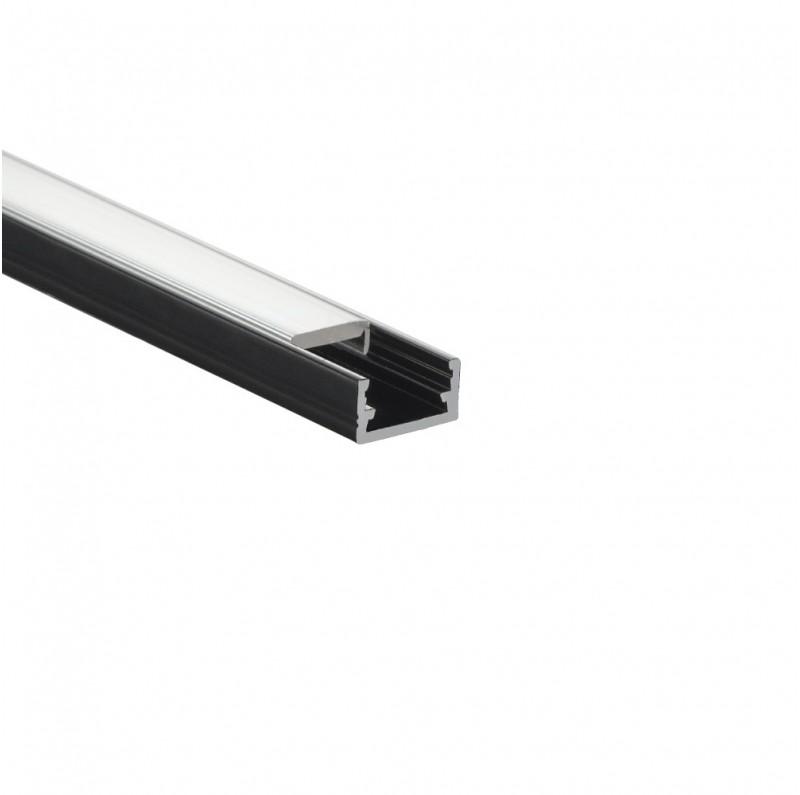 Design Light surface LED profile LINE MINI black milky lens