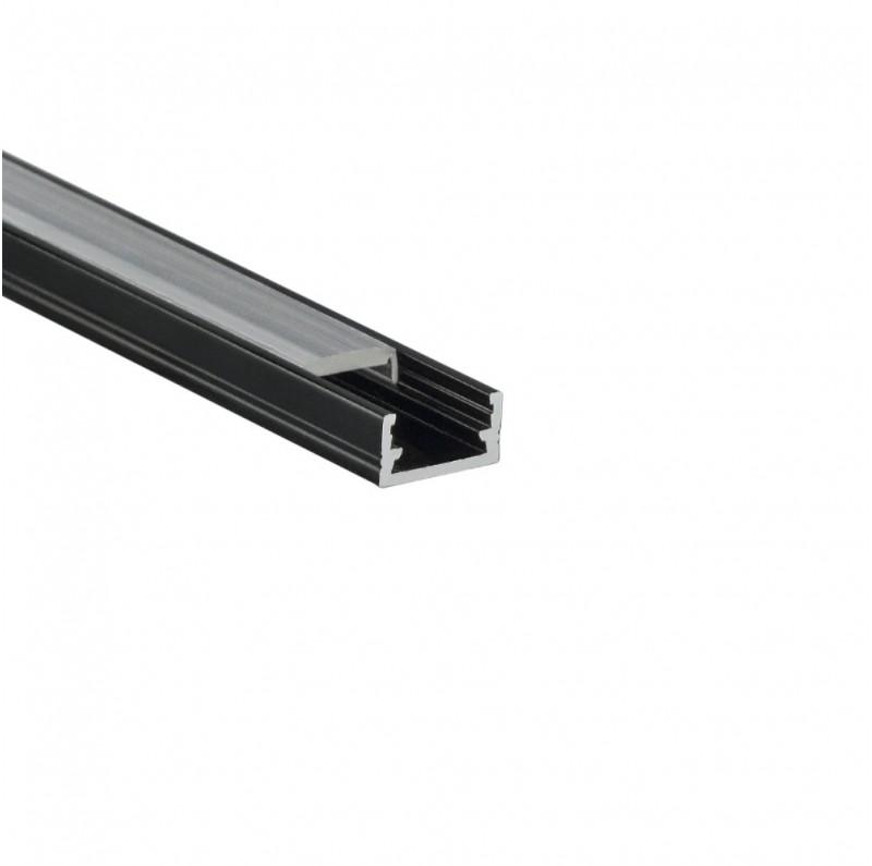 Design Light aluminium profile LINE MINI black transparent