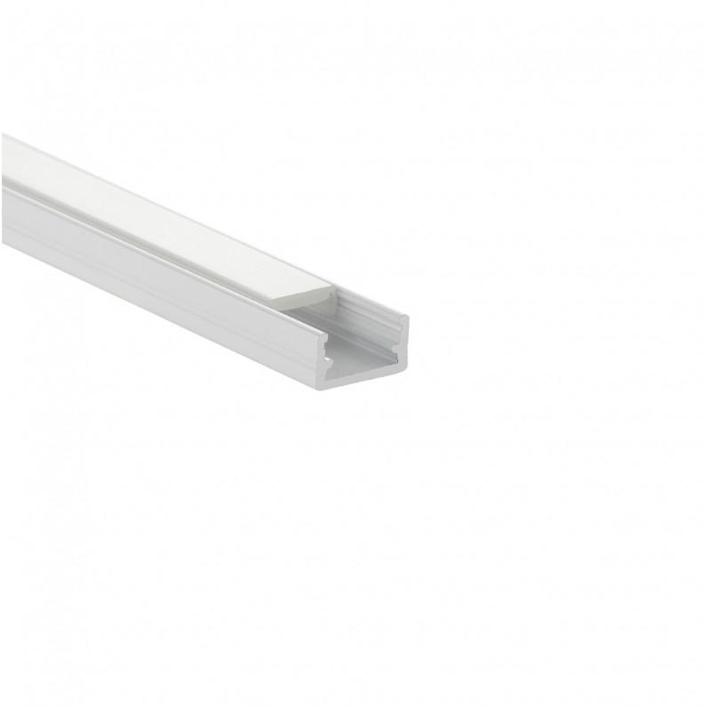 DESIGN LIGHT aluminium profile LINE MINI white end cap with hole
