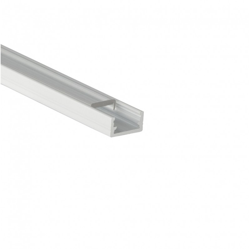DESIGN LIGHT aluminium profile LINE MINI white transparent cover
