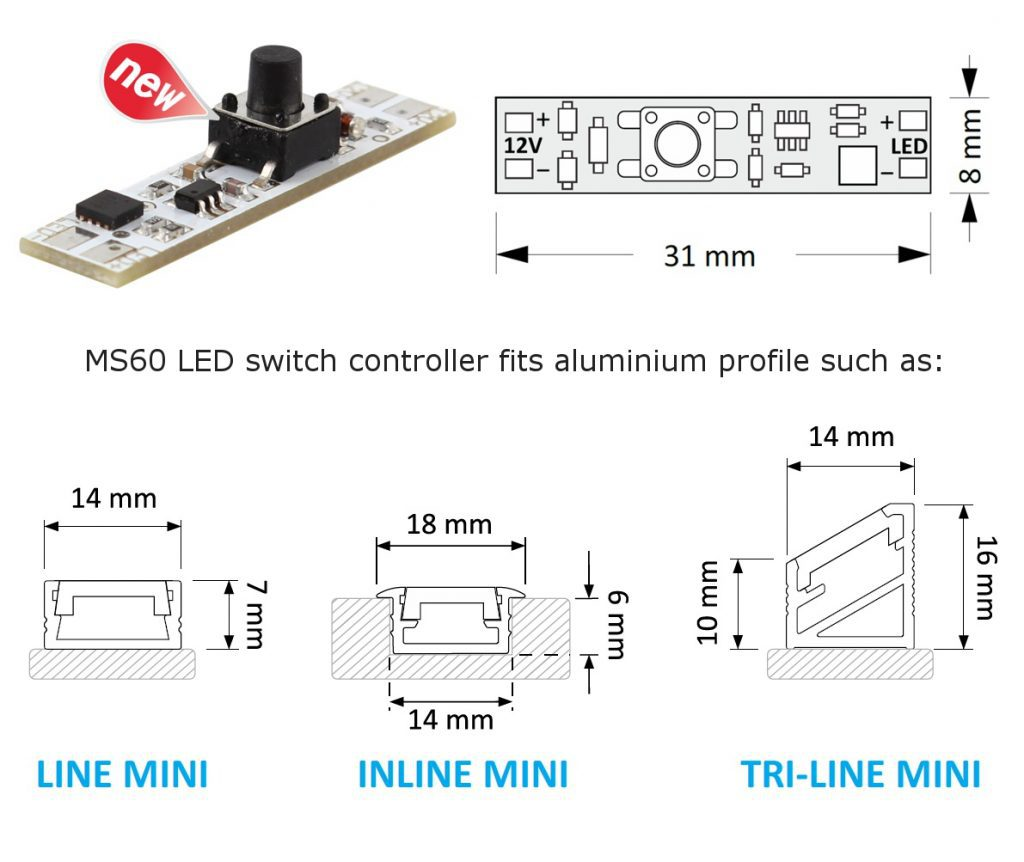 MS60 LED switch controller