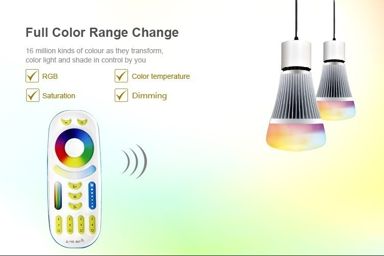 Full colour range change RGB saturation colour temperature dimming functions remote controller for LED lights