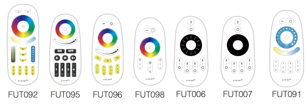 compatible remotes with Mi-Light LED remote controller wall holder FUT099 FUT092 FUT095 FUT096 FUT098 FUT006 FUT007 FUT091