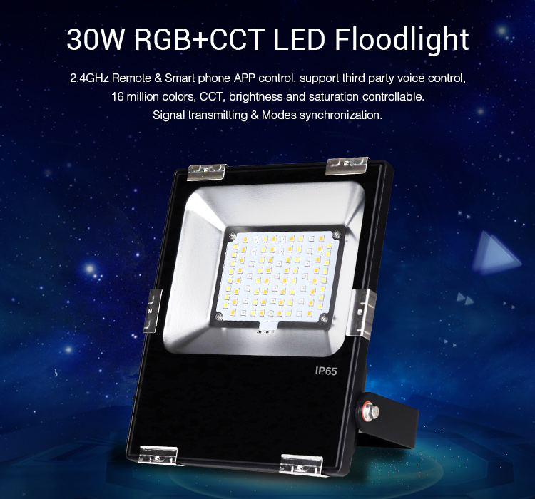 RGBCCT LED floodlight smart lighting outdoor remote controlled WiFi Amazon Alexa compatible
