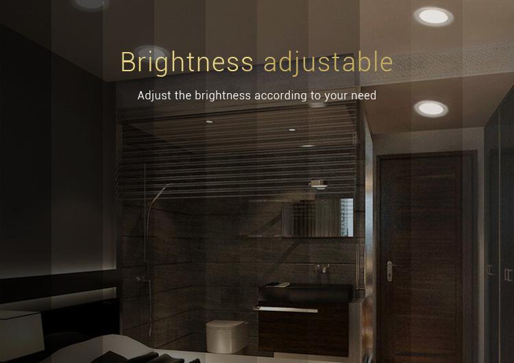 Mi-Light 9W RGB+CCT LED downlight FUT061 brightness adjustable
