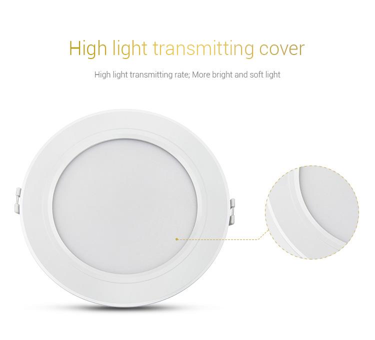 Mi-Light 9W RGB+CCT LED downlight FUT061 cover diffuser milky