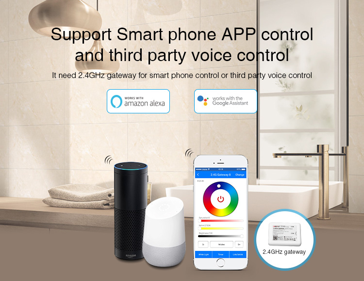 Mi-Boxer 6W GU10 RGB+CCT LED spotlight FUT106 support smartphone app control and 3rd party voice control