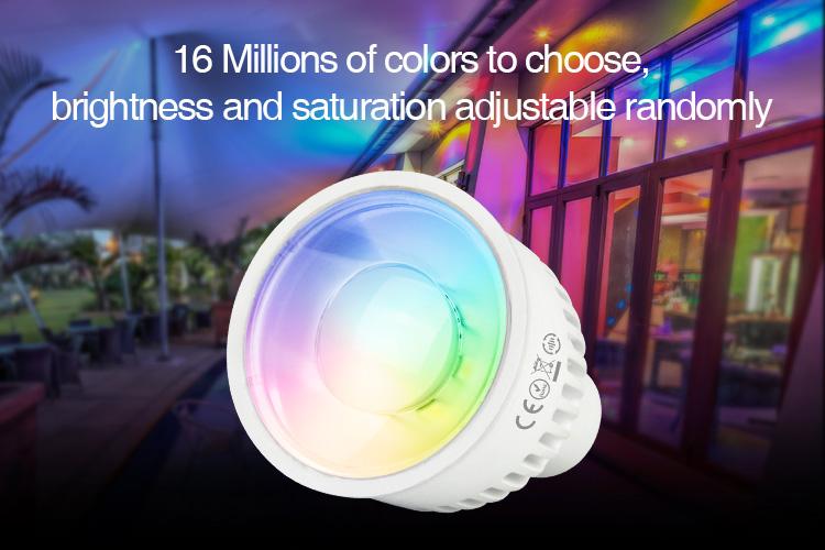 Mi-Boxer 6W GU10 RGB+CCT LED spotlight FUT106 16 millions of colours to choose