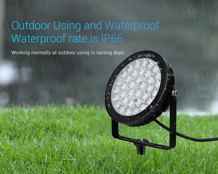 Mi-Light 25W RGB+CCT smart LED garden lamp FUTC05 waterproof outdoor lighting
