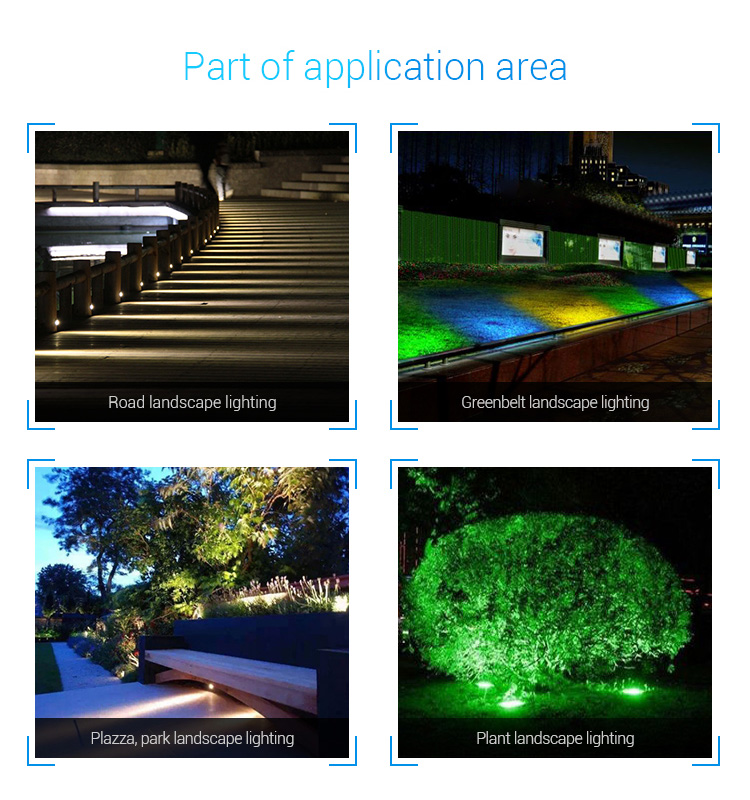 Mi-Light 25W RGB+CCT smart LED garden lamp FUTC05 - application