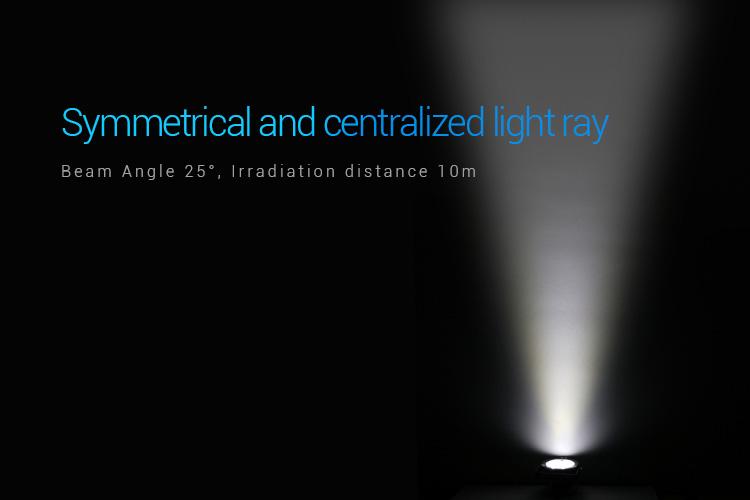 Mi-Light 25W RGB+CCT smart LED garden lamp FUTC05 beam angle