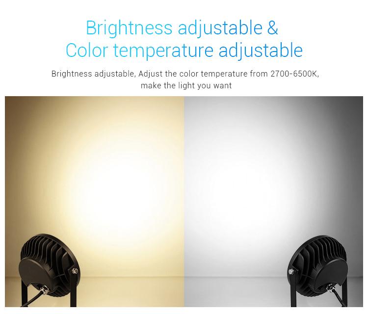 Mi-Light 25W RGB+CCT smart LED garden lamp FUTC05 brightness adjustable