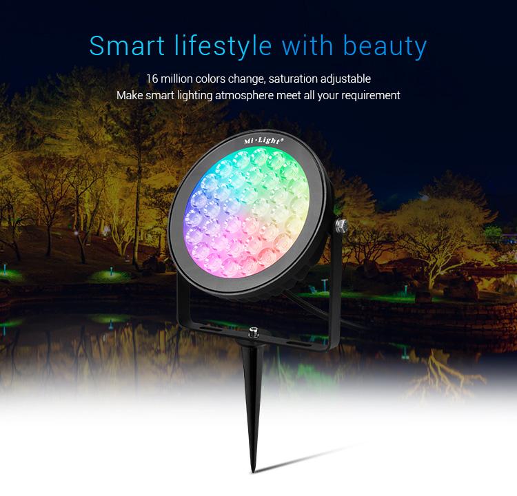 Mi-Light 25W RGB+CCT smart LED garden lamp FUTC05 multicolour outdoor light