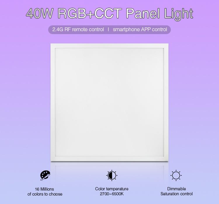 Mi-Light 40W RGB+CCT panel light FUTL01 remote control ceiling multicolour panel smartphone app control