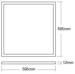 Mi-Light 40W RGB+CCT panel light FUTL01 product size 60 x 60 LED ceiling panel dimensions technical picture