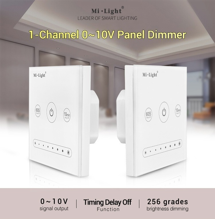 1-channel 0-10V panel dimmer timer brightness dimming milight controller wall panel